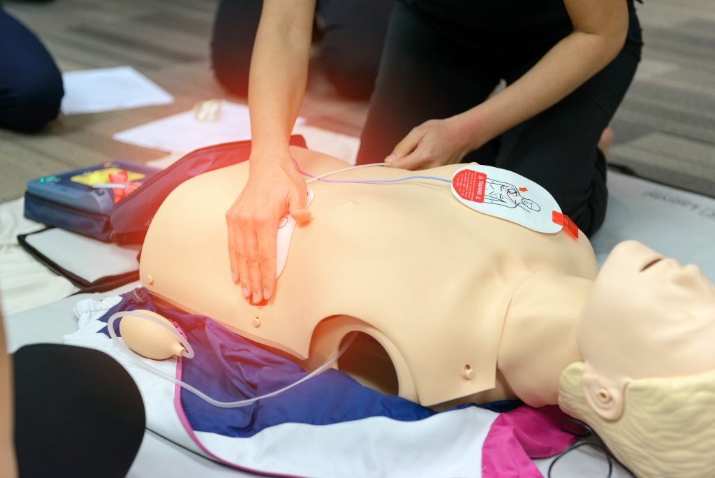 First-aid-cardiopulmonary-resuscitation-AED-training